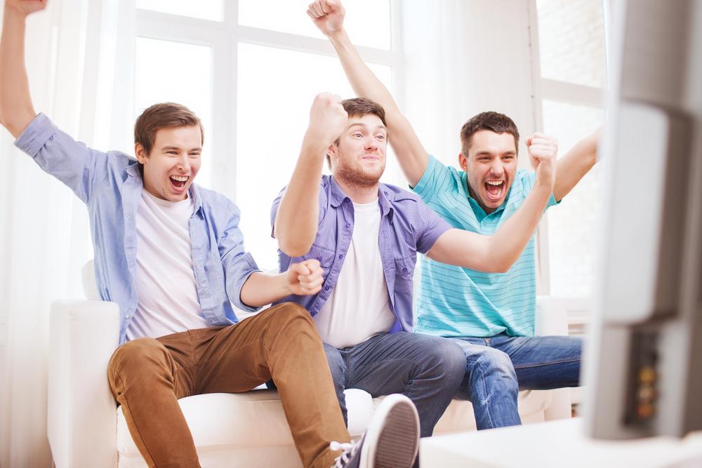 Wie ich Fußball mit meinen Freunden schaue!